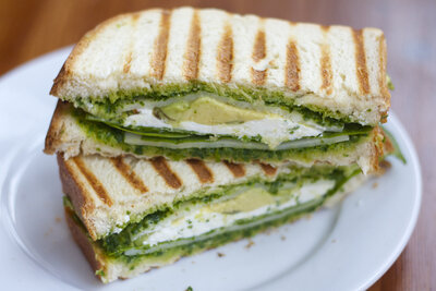 Avocado Kale Pesto Grilled Cheese