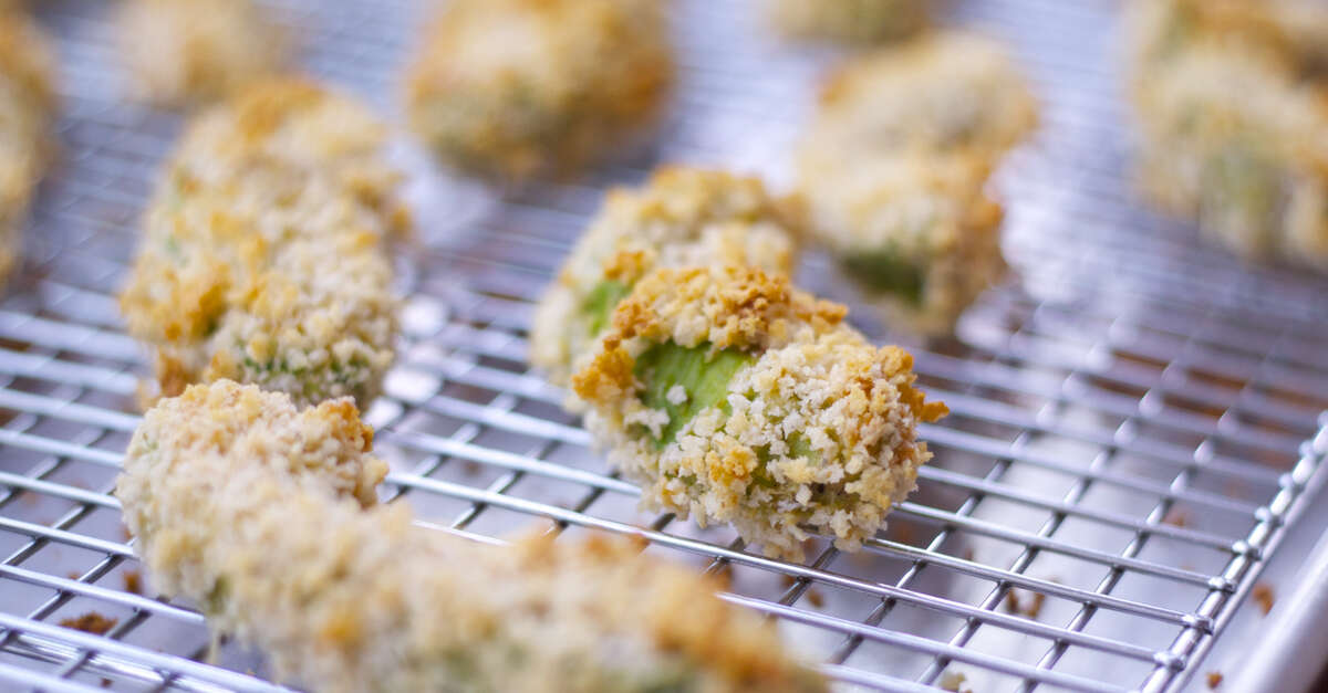 Baked Avocado Fries Recipe Makebetterfood Com