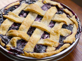 Balsamic Black Raspberry Pie