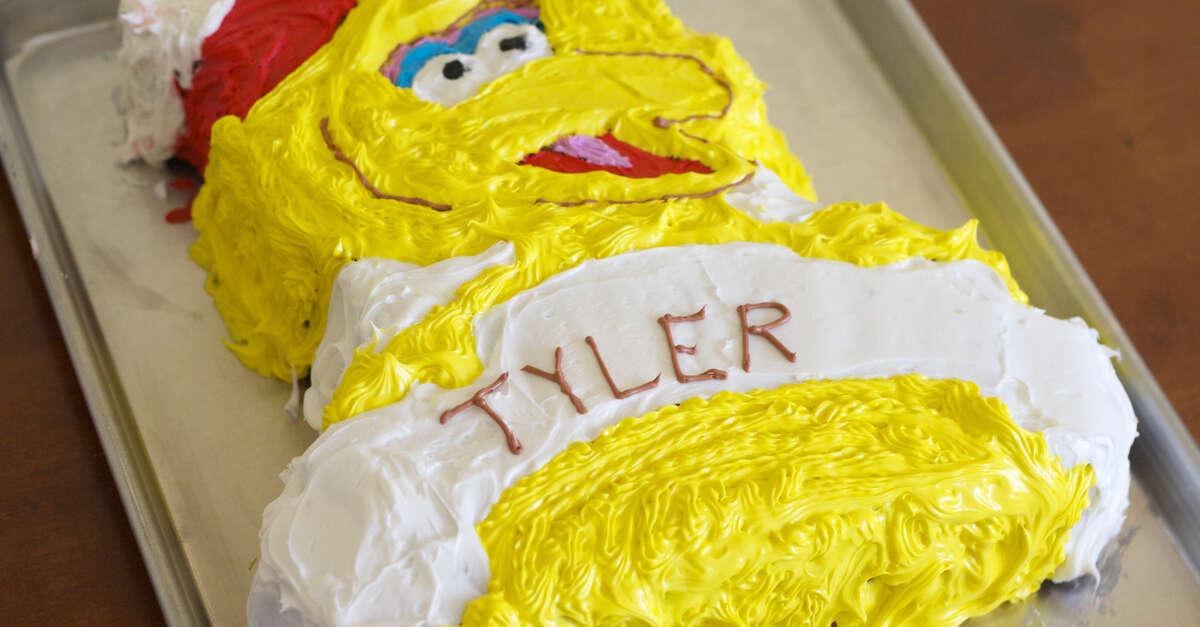 big bird birthday cake recipe