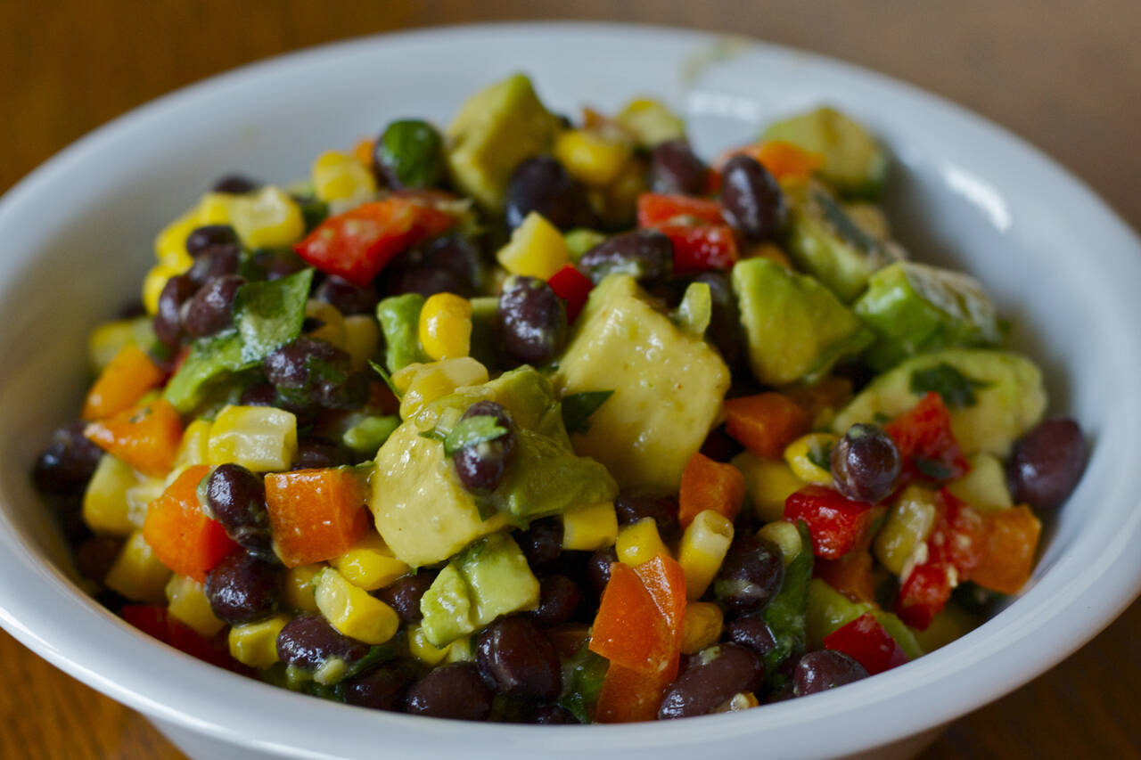 Black Bean Salad with Lime Dressing Recipe - MakeBetterFood.com