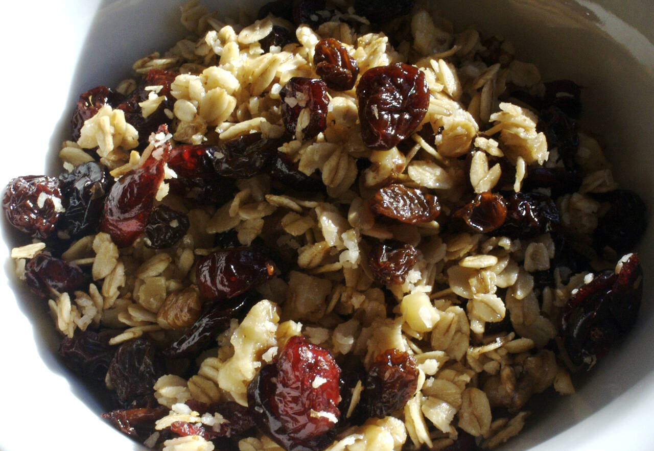 Cherry Cranberry Raisin Granola