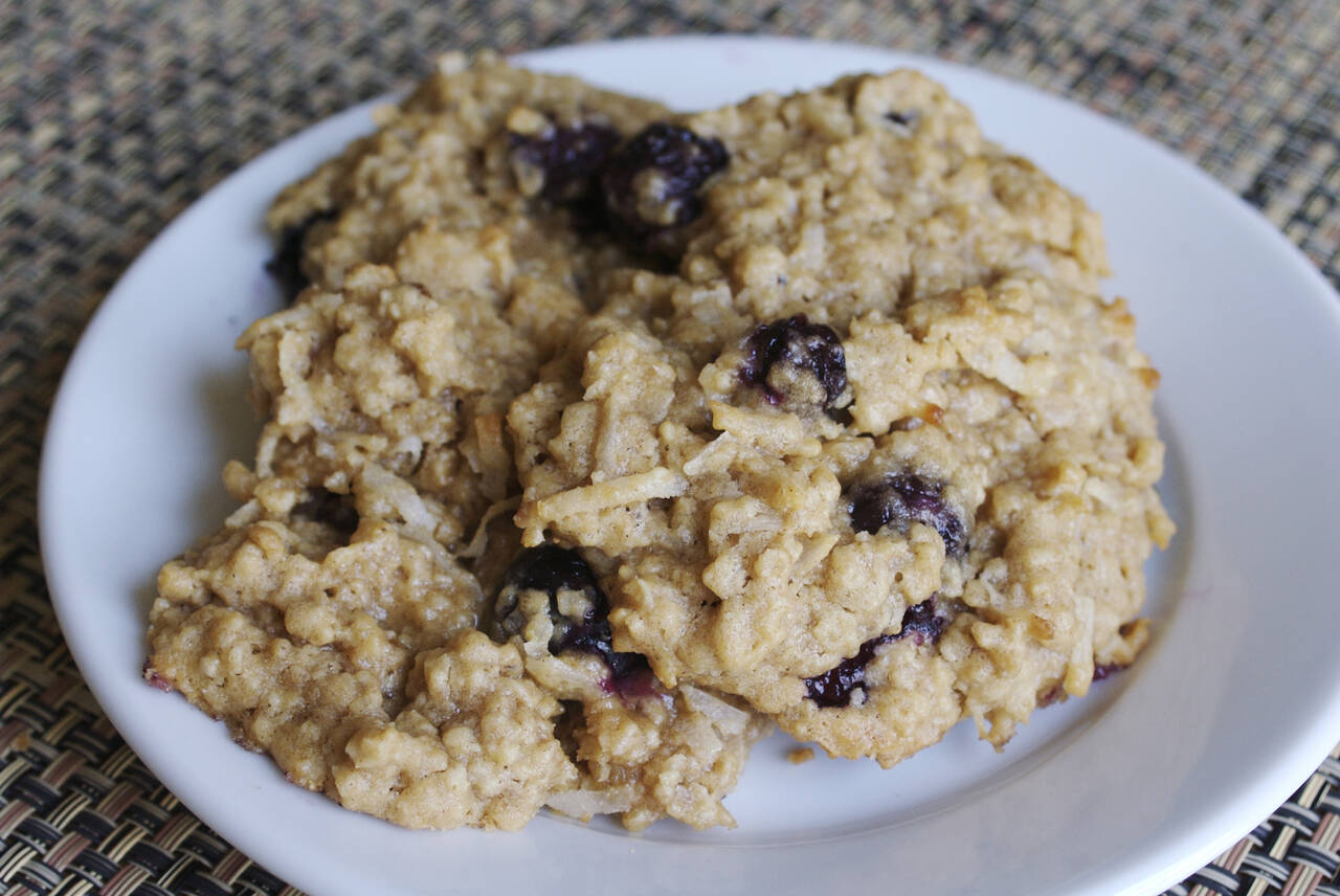 Coconut Blueberry Oatmeal Cookies