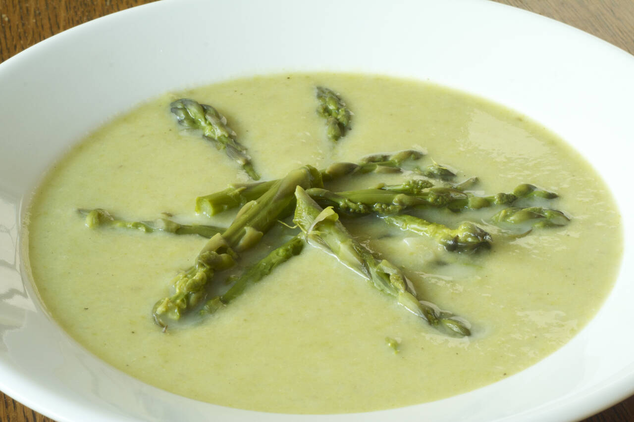 Creamy Asparagus Soup Recipe - MakeBetterFood.com