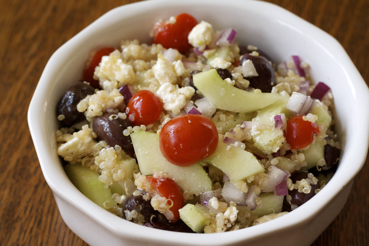 Greek Quinoa Salad Recipe - MakeBetterFood.com