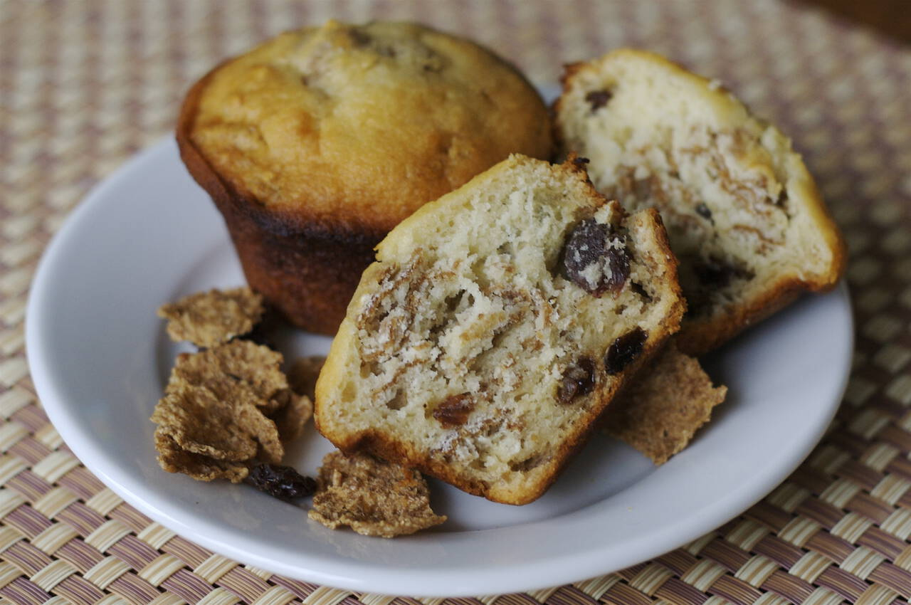 Honey Raisin Bran Muffins Recipe - MakeBetterFood.com