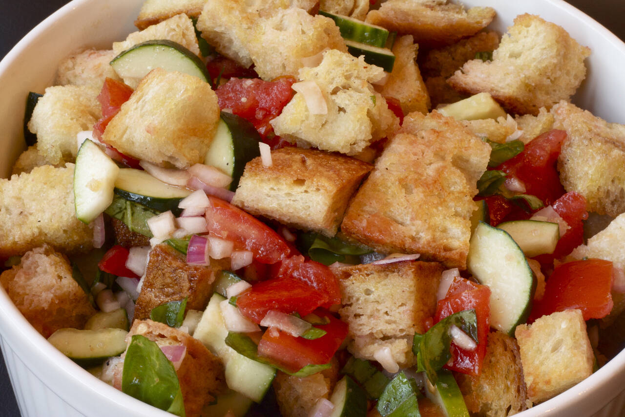 ... panzanella salad panzanella is a traditional italian recipe for