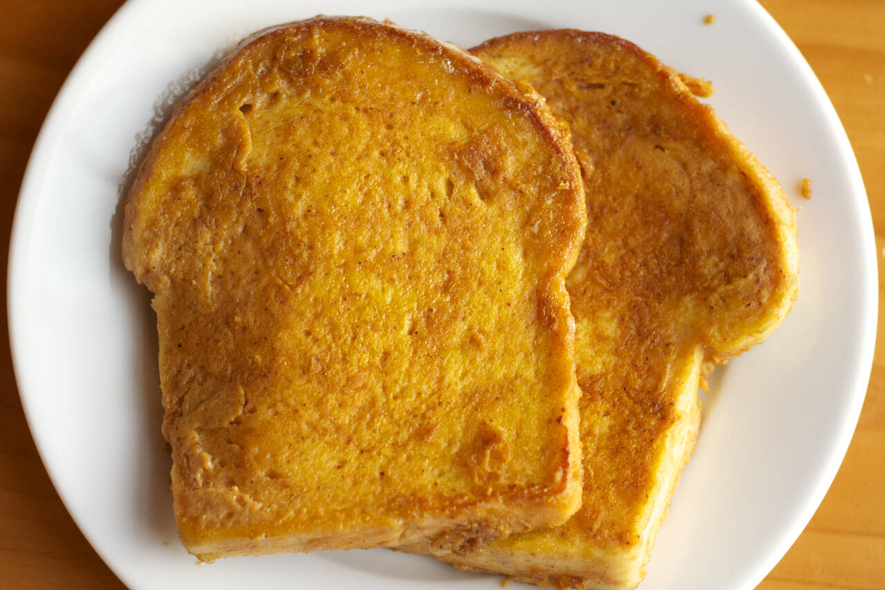 Pumpkin Pie French Toast Recipe - MakeBetterFood.com