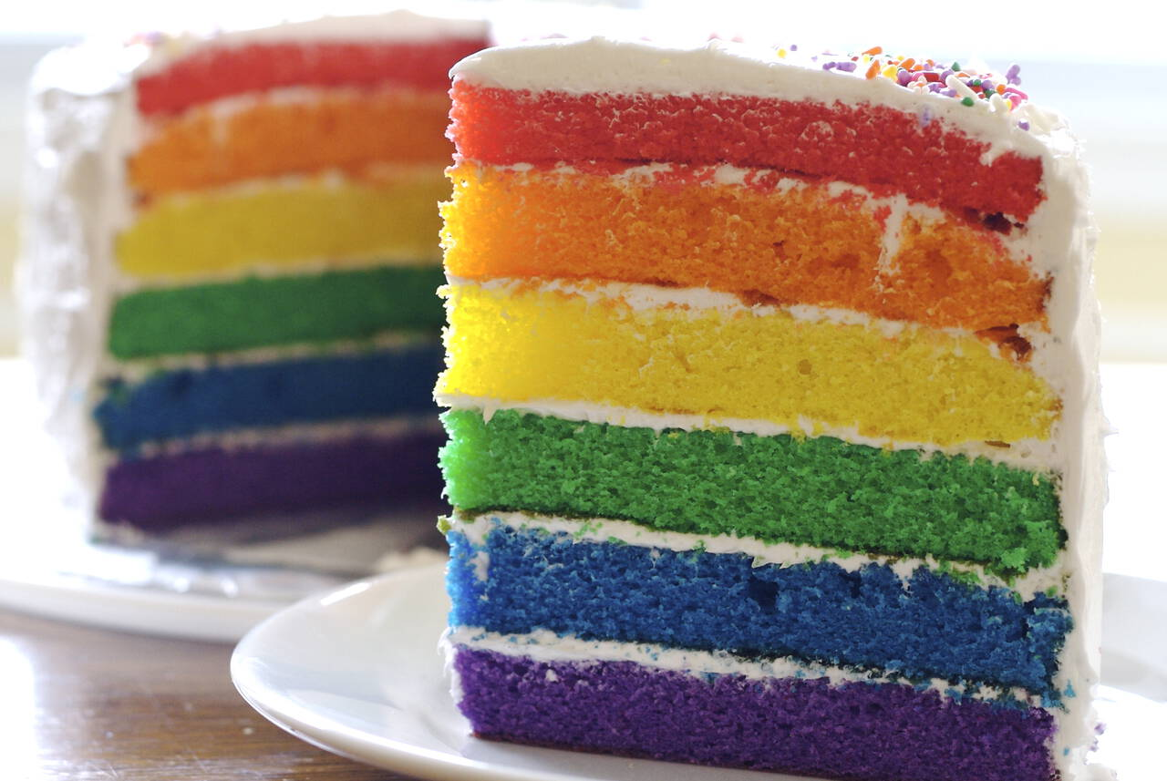 Astonishing Rainbow Birthday Cake Recipe From Scratch Makebetterfood Com Funny Birthday Cards Online Sheoxdamsfinfo