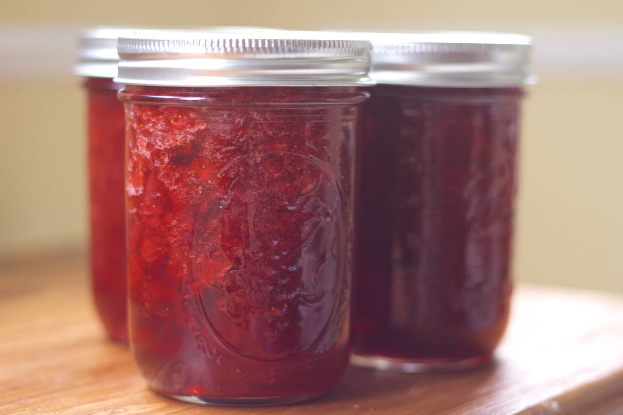 Strawberry Rhubarb Jam Recipe - MakeBetterFood.com