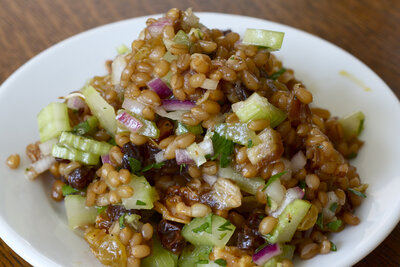 Wheat Berry Salad with Figs